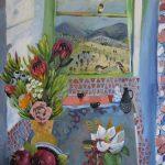 Proteas, Pomegranates and Birds