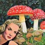 1940s retro Forest Nightmare Surreal mushroom