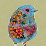 Blue Bird in Striped Socks