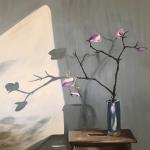 Magnolias in a blue jug