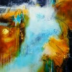 Oceans Between – Cold Wax Mixed Media Painting