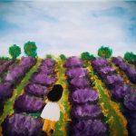 GIRL IN LAVENDER FARM