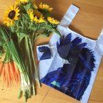 Reusable Shopping Bag – Black & Blue