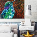 Hummingbird Under Nectar Sky – Original acrylic painting