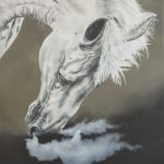 Silver Brumby Horse Painting