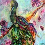 Cherry Blossom Peacock
