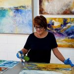 Explore the SURFACE – Cold Wax Medium, Oil Paints & Pigments with Cheryl McGannon