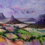 Glasshouse Mountains Dreaming Acrylic Original Painting