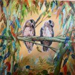 Pair of Moobook Owls