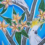 Cockatoo's In The Frangipani Tree