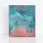 Sea foam abstract painting