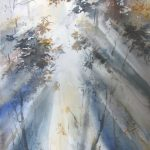 `Morning Light` – landscape watercolour painting