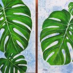 Monstera Leaves Diptych