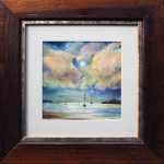 """Moon light"" – seascape painting – framed"