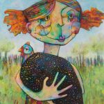 Girl and Guinea Fowl – Ltd Ed Print