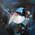 Fairy wren and leptospernum