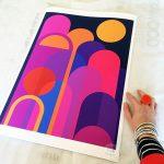 Moonbow – A2 Fine Art Modernist Print