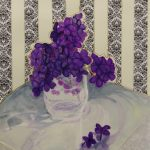 Modern Lilac in Clear Vase