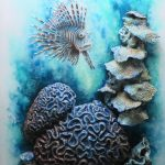 Great Barrier Reef – mixed media 3D sculptural painting