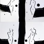 Women series line drawings – set of four No 4