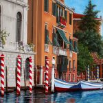 The Red Posts Venice Ltd Ed Giclee Print